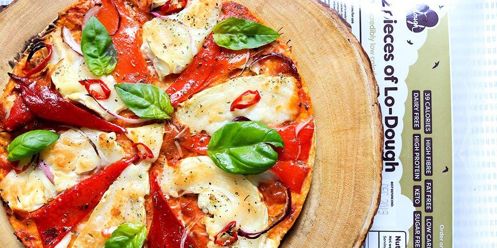 Pizza sans gluten et diététique avec Lo-Dough