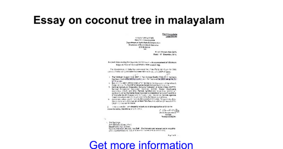 essay on coconut tree in malayalam google docs