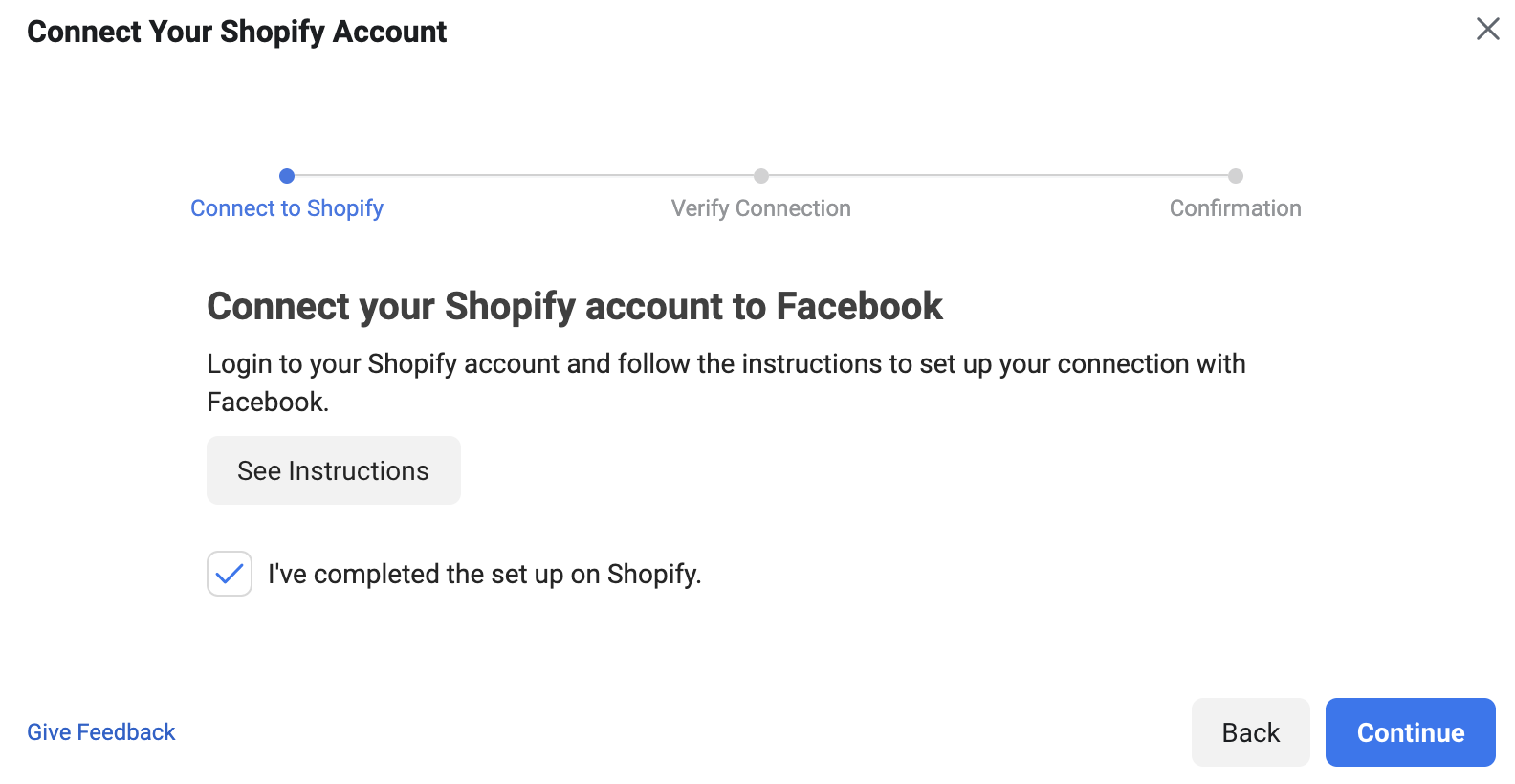 Connecting your shopify account to pixel