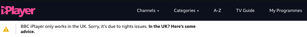ZenMate VPN unable to access BBC iPlayer from outside the UK