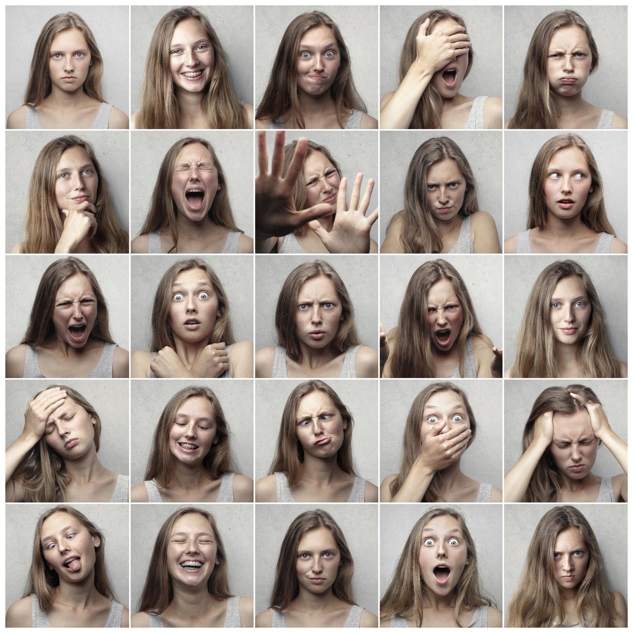Die verschiedenen Emotionen des Menschen