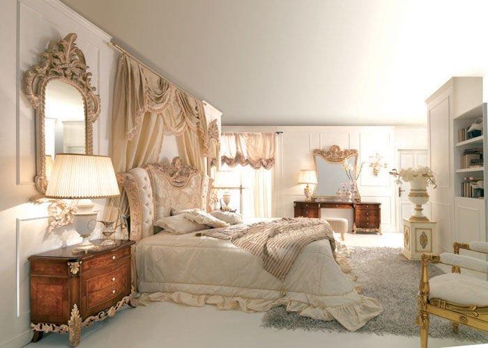 Màu sắc nhã nhăn kết hợp với nội thất họa tiết cho phòng ngủ kiểu vintage