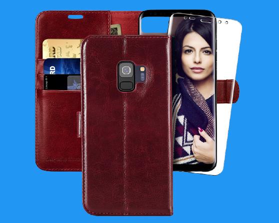 Monasay Galaxy S9 Wallet Cardholder Case