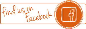 find us on facebook orange!
