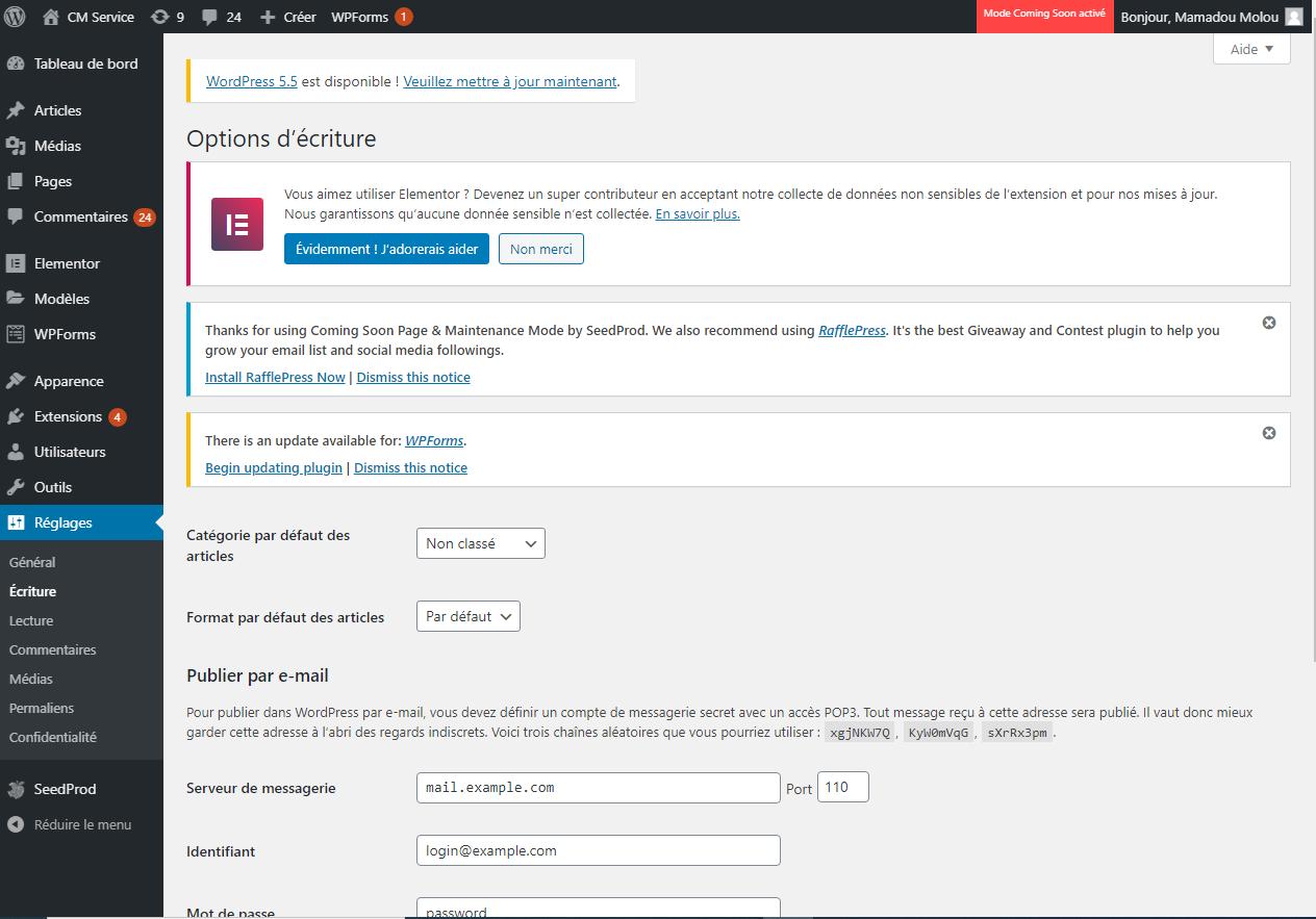 Tableau de bord WordPress : outil de partage de la veille informationnelle