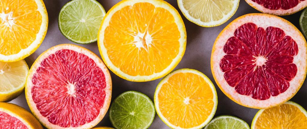 citric fruits, high in vitamin c
