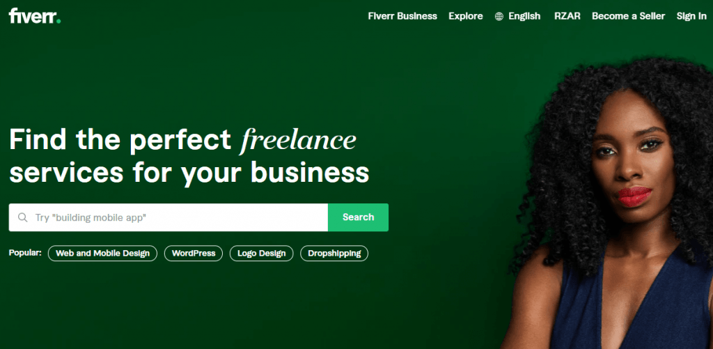 Fiverr - Freelance Writing Sites for Nigeria Content Writers