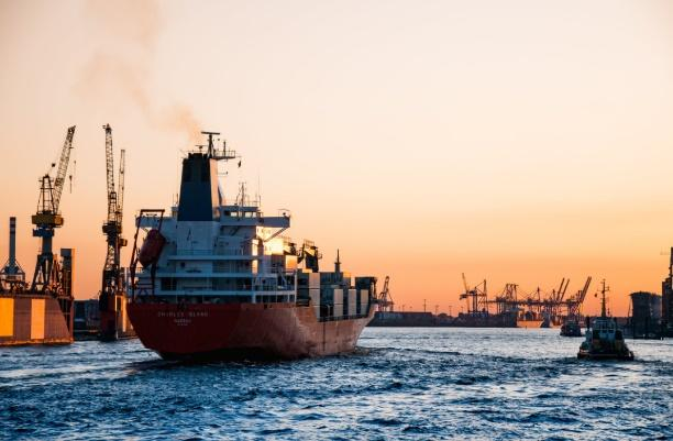 A large ship in the water Description automatically generated with low confidence