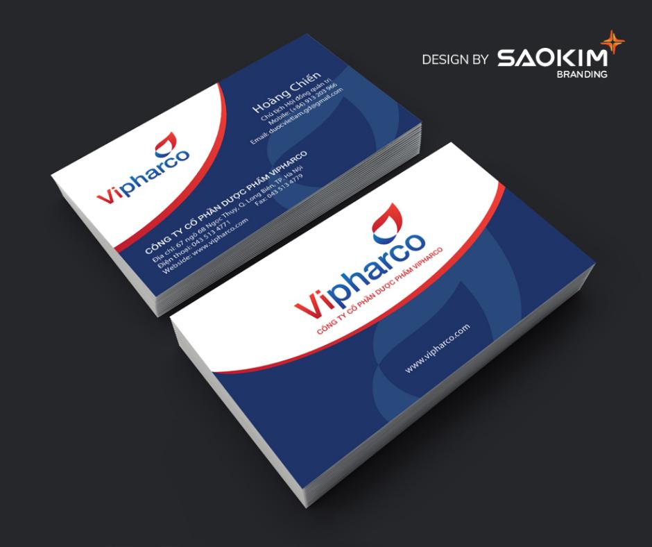 [Saokim.com.vn] Logo thương hiệu dược phẩm - y tế VIPHARCO thiết kế bởi Sao Kim Branding