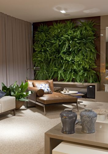 Create a Natural Look with a Large Green Wall decor ideas