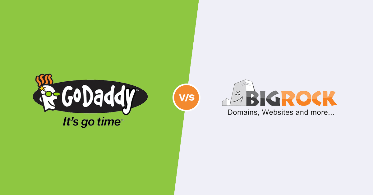 comparison between godaddy india and bigrock