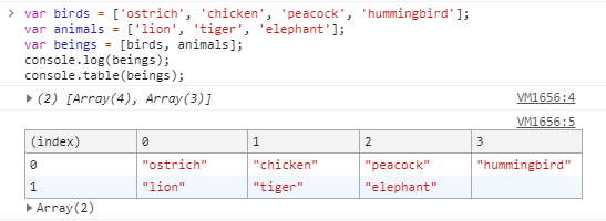 console.table()