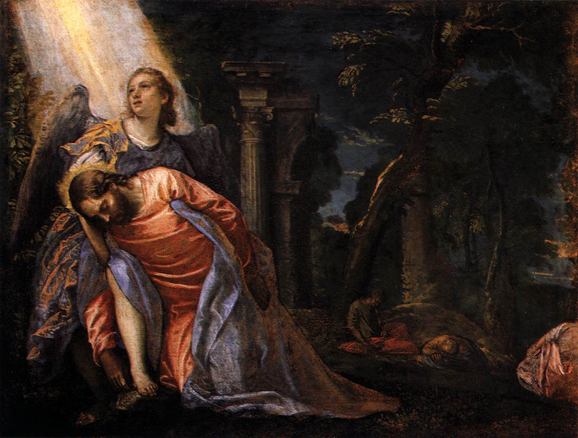 christ in the garden of gethsemane 1584 Paolo Veronese.jpg