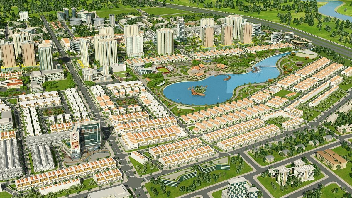 Đường xá khang trang của dự án Đông Tăng Long quận 9