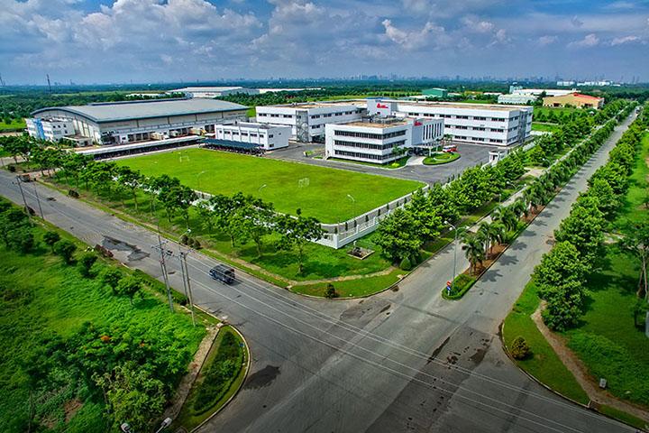 Thiết kế cảnh quan khu công nghiệp giúp không gian xanh, thoáng mát