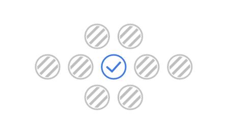 illustration représentant la sélection d'un siège qui désactive les sièges autours
