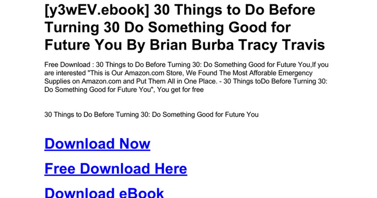 30 Things To Do Before Turning 30 Do Something Good For Future You