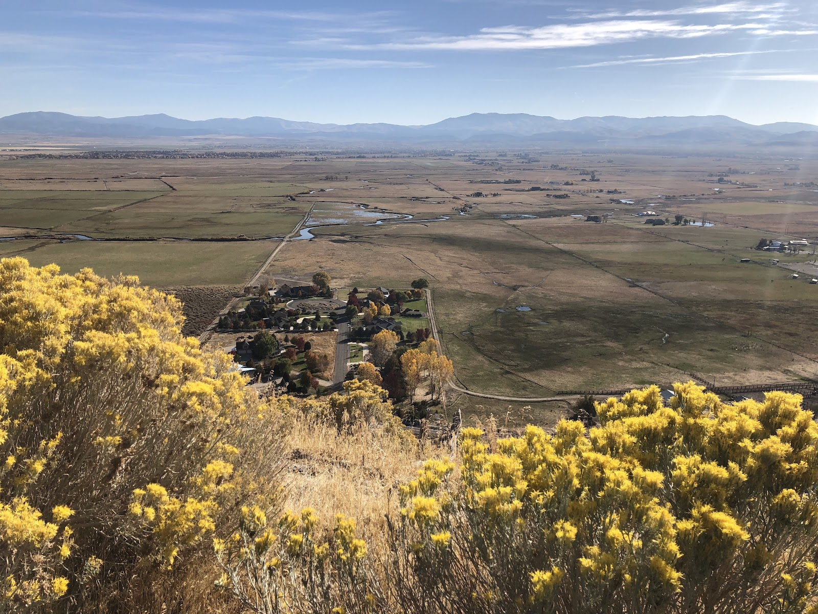 Looking down on NV plains while bicycling up the Kingsbury Grade.