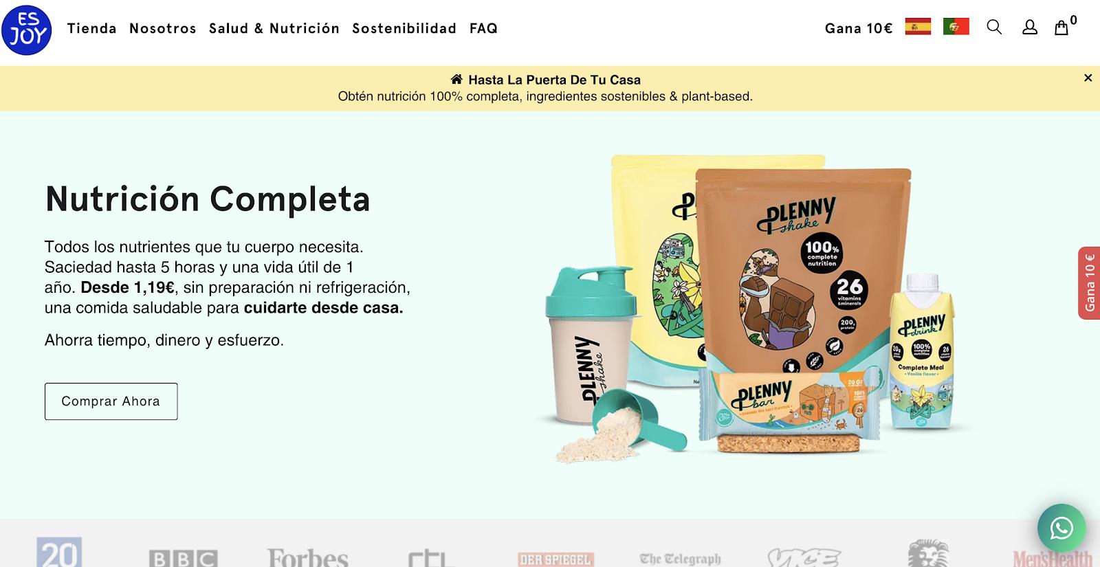 Esjoy homepage screenshot