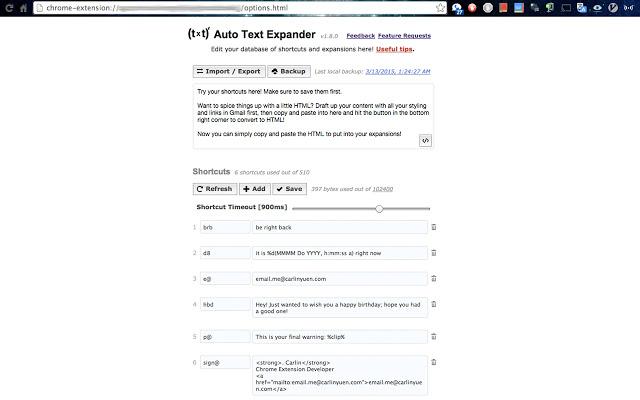 Auto Text Expander screenshot