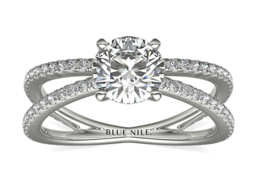 Blue Nile Studio Empress Diamond Engagement Ring