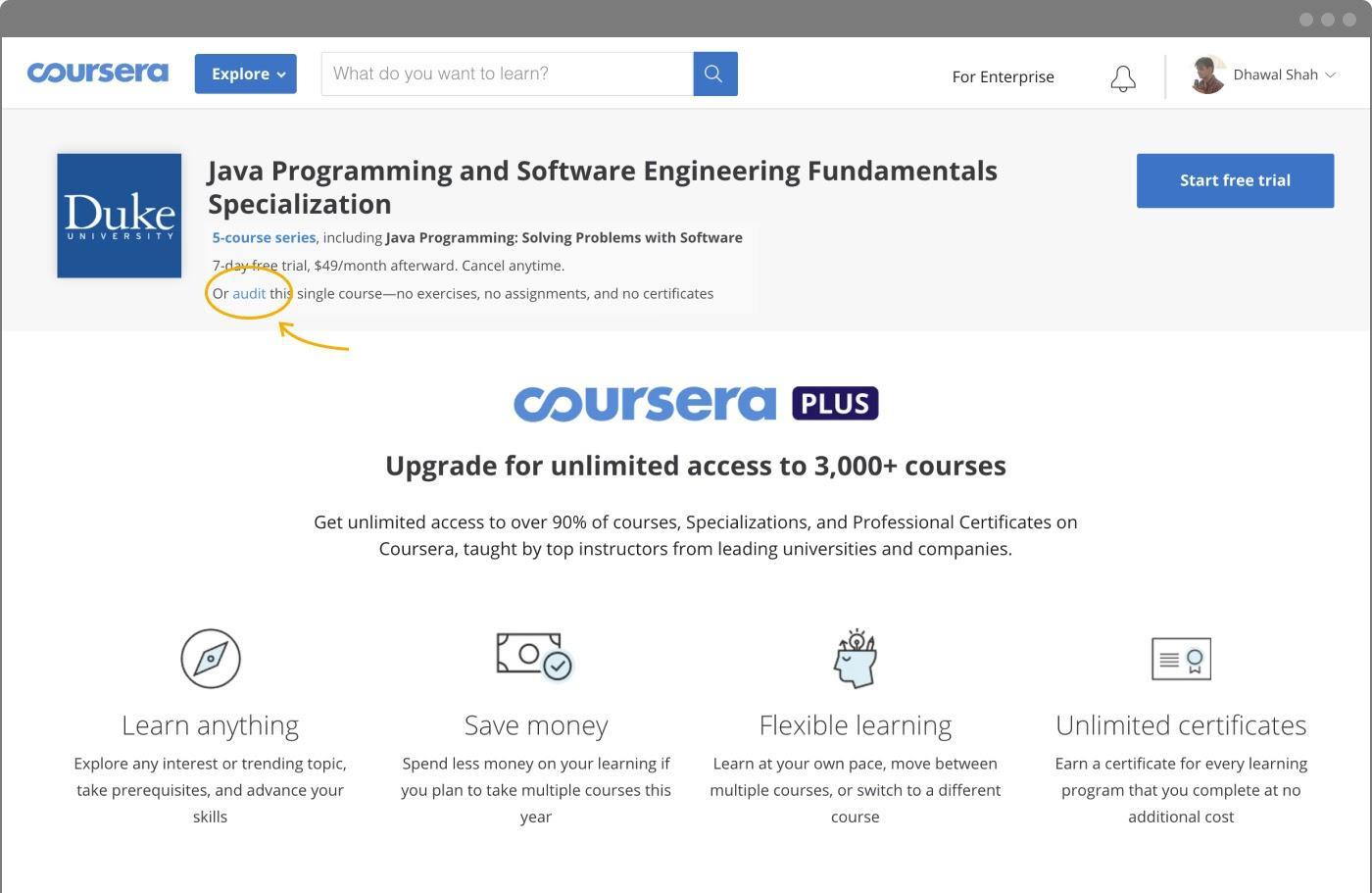 Coursena là nền tảng cung cấp nhiều khóa học Online đa dạng chủ đề