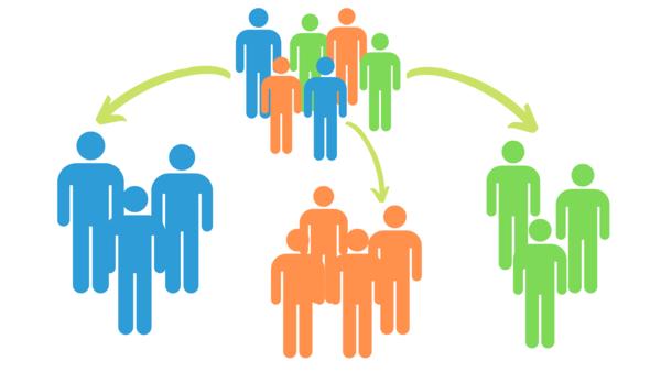 Illustration representing customer segmentation