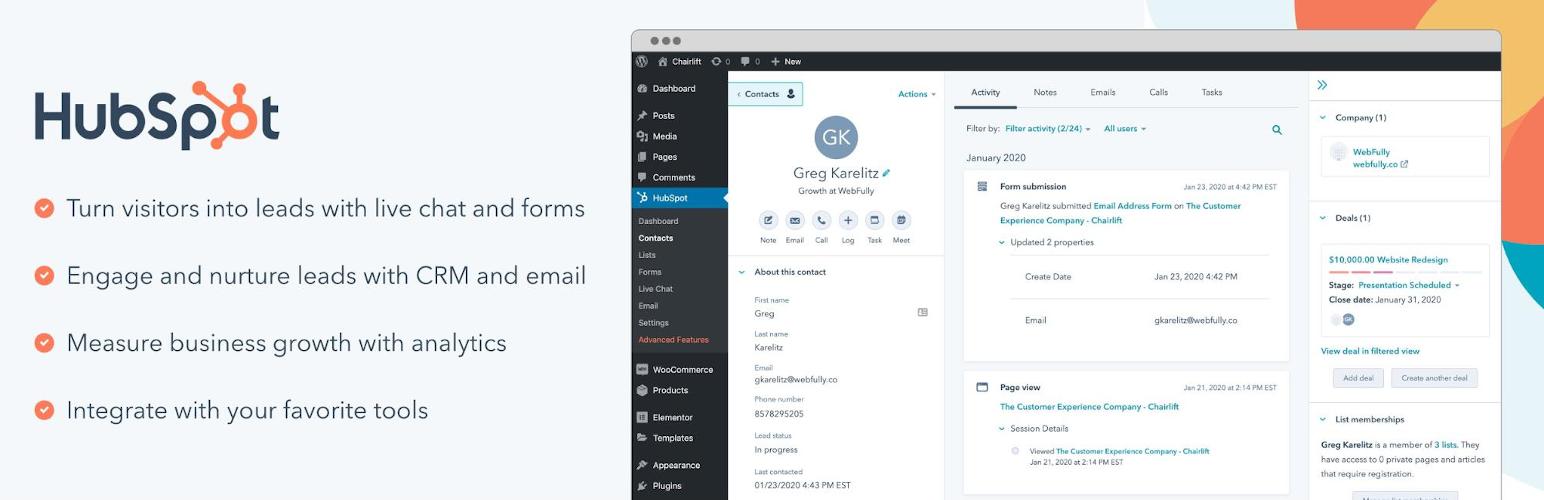 hubspot wordpress email marketing plugin, wordpress email marketing plugins