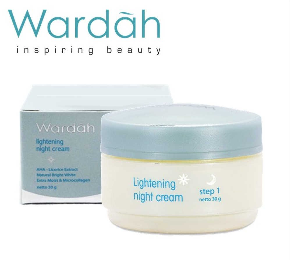 Wardah Lightening Night Cream Step 1