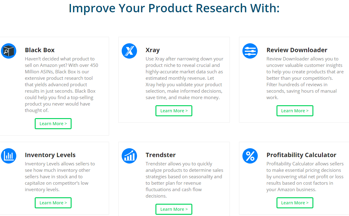 Helium 10 product research tools