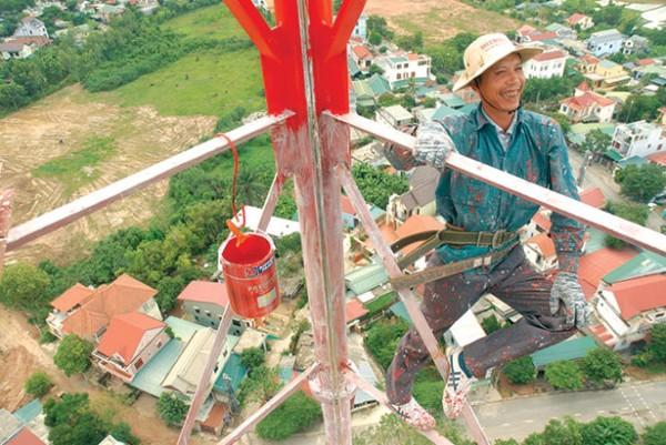 Dây đai an toàn được ứng đụng đối với các công việc trên cao