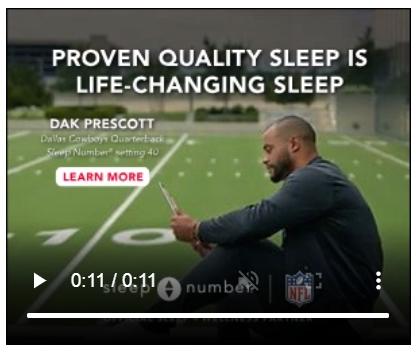 NFL + SleepNumber join forces in digital ads