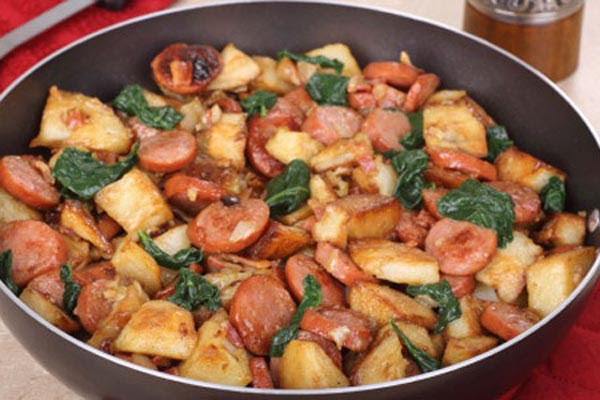 Linguiça com Batatas ao Vinho