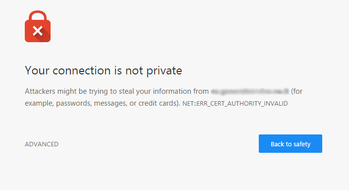 Untrusted SSL certificate