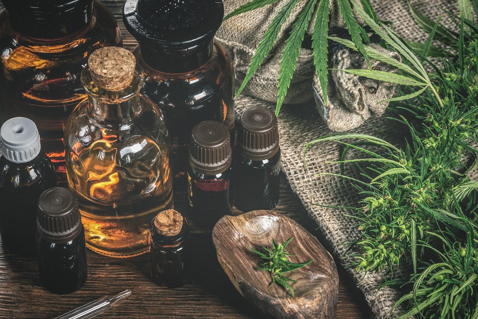 CBD essential oils for health, hemp