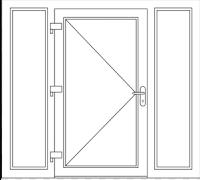 Deur met Dubbel zijlicht, beschrijf je deur : Breedte x Hoogte