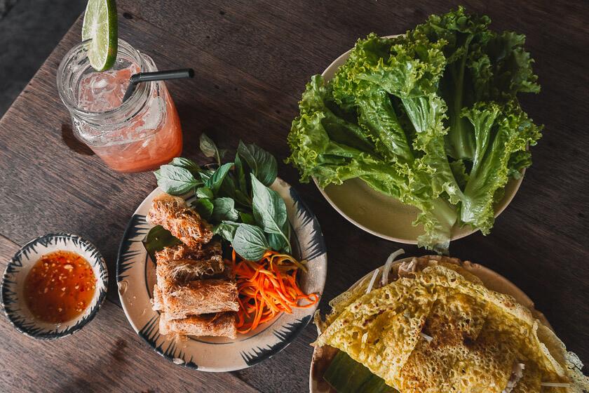 Food in Saigon.