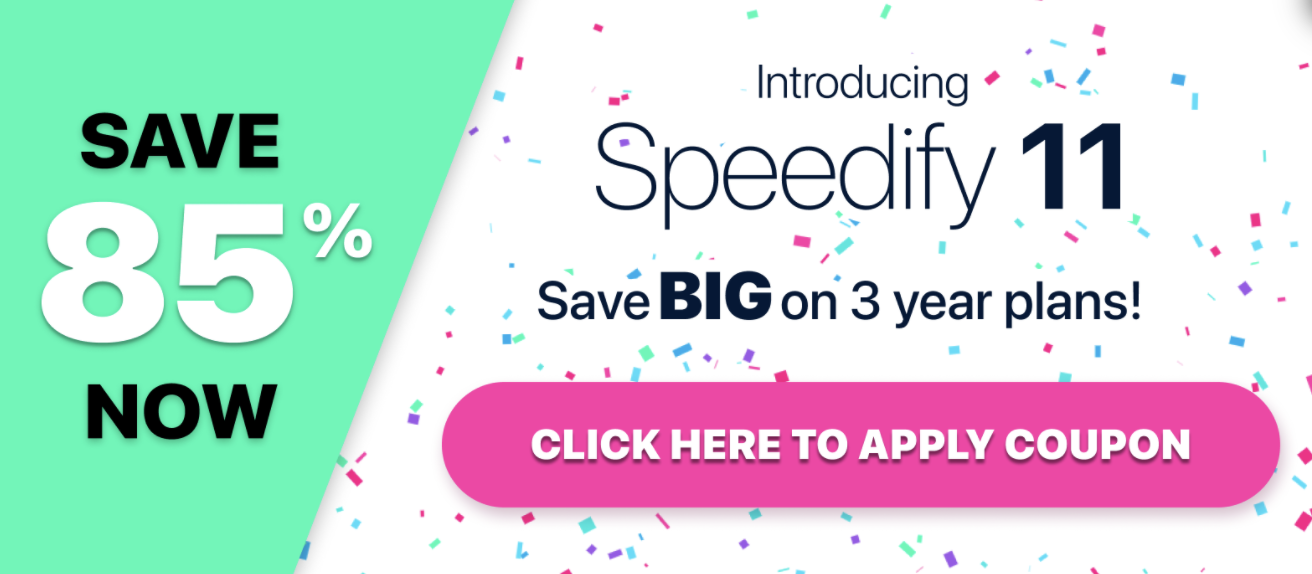 Speedify promotion pop-up for 85% off new sign-ups