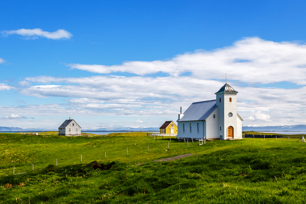 Flatey Island is one of the most flat islands in Iceland and has a total population of just 6!