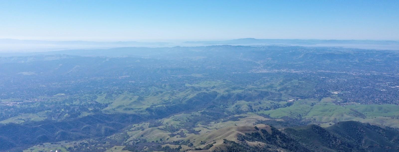 Bicycle ride up Mt. Diablo - Summit Road - Golden Gate Bridge and Mount Tamalpais