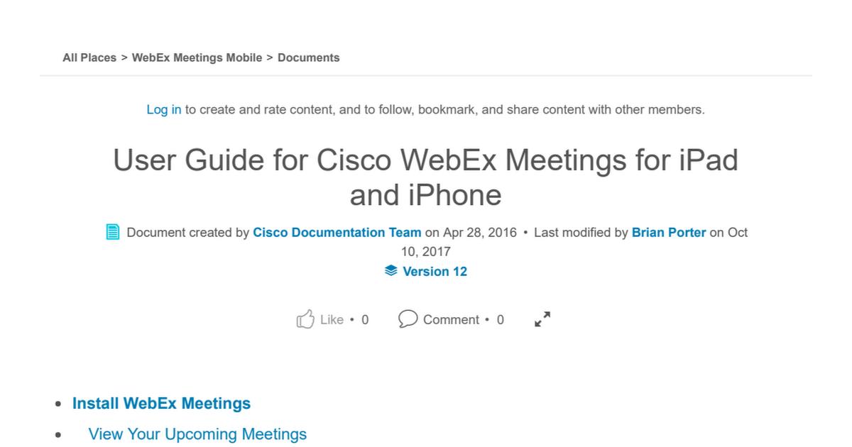 cisco webex meetings user guide