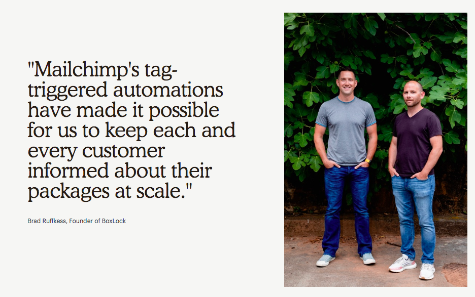Quote testimonial from MailChimp.