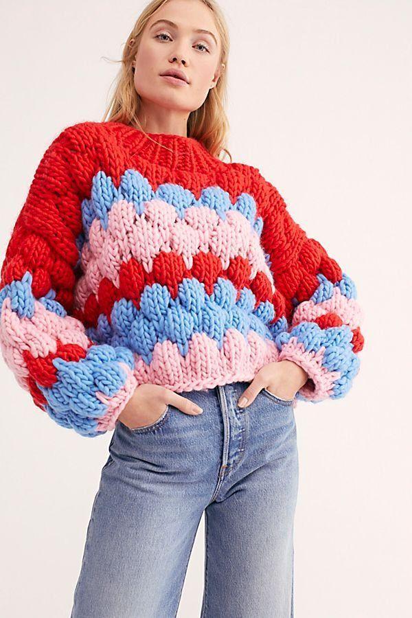 Moon Face Sweater | Moda de punto, Sueter tejido para mujer, Patrón de  suéter