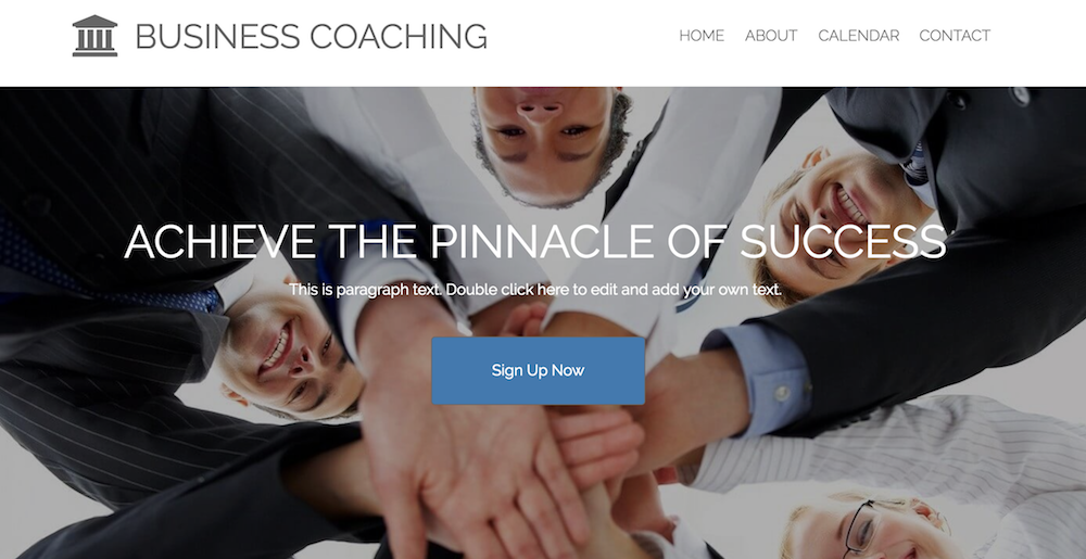 Website by Business Coaching built with WebStarts