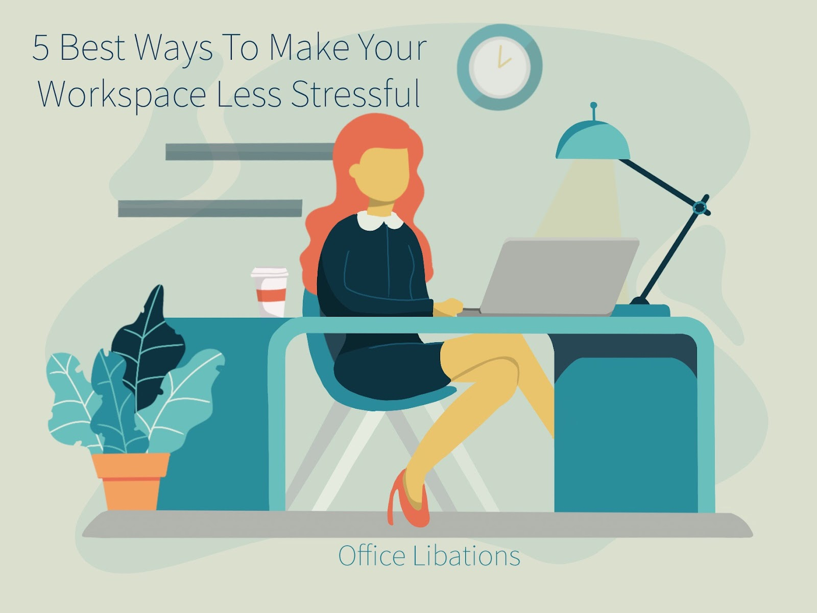 "illustration for the article ""the 5 best ways to make your workplace less stressful"""