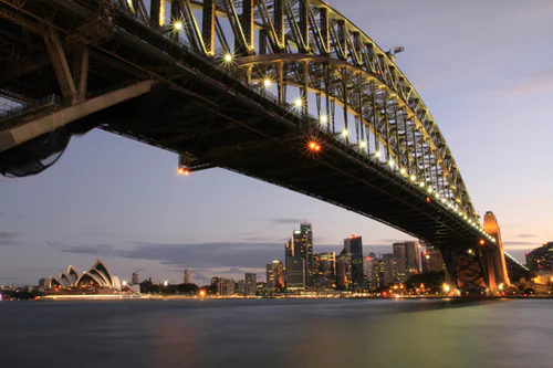 The Sydney Harbor Bridge. A Sydney landmark you can't miss