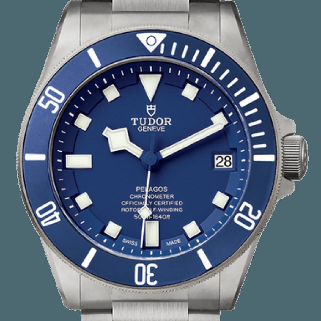 Tudor Pelagos watch featuring square markers