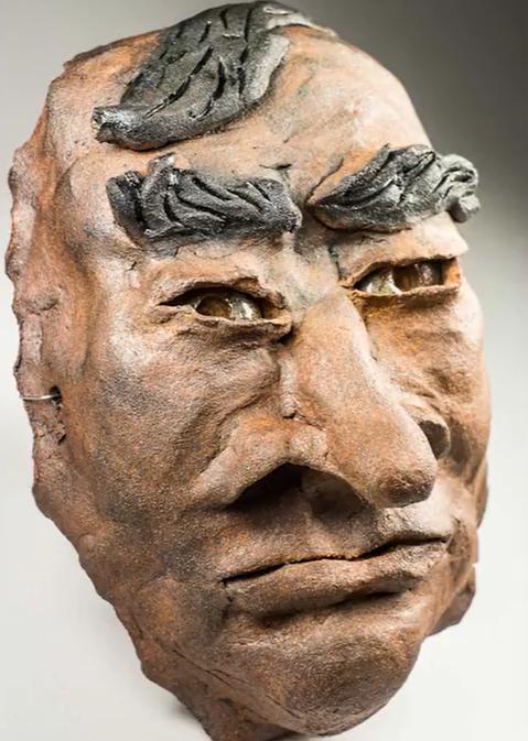 sculpted self portrait