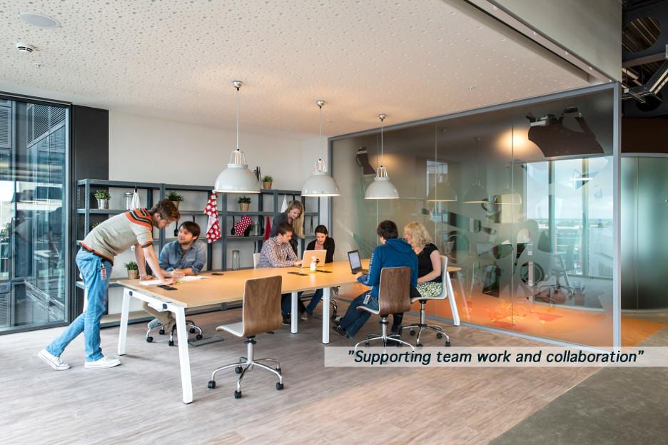 Xu hướng văn phòng mở phù hợp với xu hướng cộng tác trong công việc
