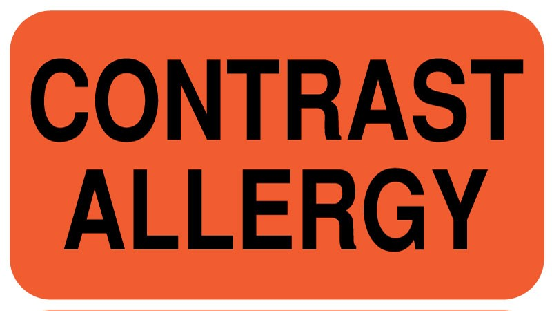 Contrast Allergy Label